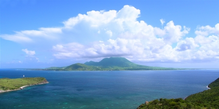 7798666 - view of the caribbean island nevis from saint kitts